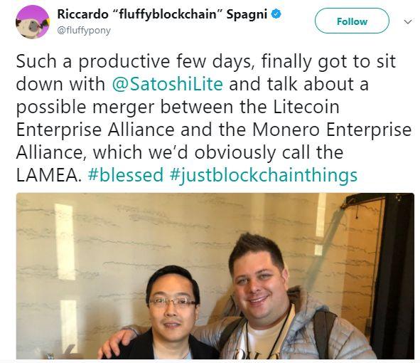 Чарли Ли и Рикардо Спаньи работают над сближением  Litecoin и Monero?